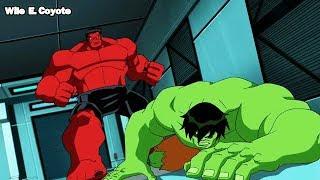 Hulk vs Hulk Rojo ♦ Los Vengadores los Heroes mas Poderosos del Planeta