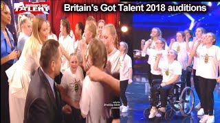Rise Dance Group  REALLY INSPIRATIONAL Simon SALUTES Them Auditions Britain's Got Talent 2018