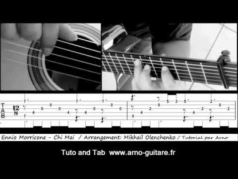 Ennio Morricone - Chi Mai - Fingerstyle guitar with Tab / Tuto