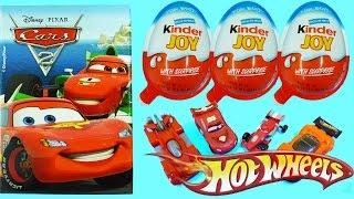 Kinder Joy Surprise Eggs for Boys Disney Pixar Cars 2 Hot Wheels Cars Lightning McQueen Cute Faces