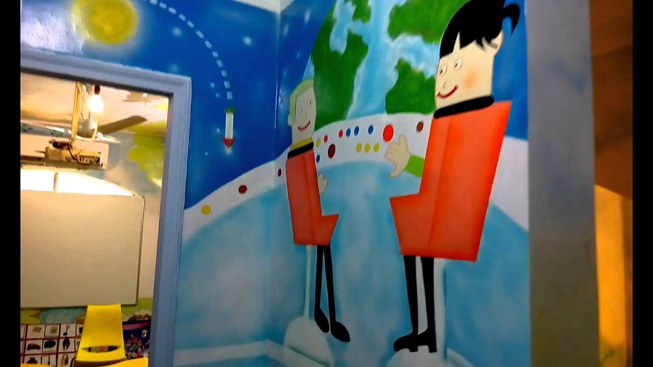 Best paint colors for preschool classrooms - Preschool Playschool Kindergarten Classroom Wall Painting India Youtube