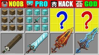 Minecraft NOOB vs PRO vs HACKER vs GOD ABILITY SUPER SWORD CRAFTING CHALLENGE in Minecraft Animation