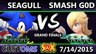 S@X 106 Customs - Seagull (Sonic) Vs. Smash God (Rosalina) SSB4 GF - Smash Wii U - Smash 4
