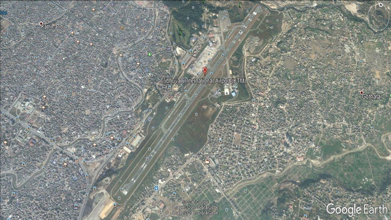 Tribhuvan International Airport Kathmandu Nepal Google Earth   YouTube