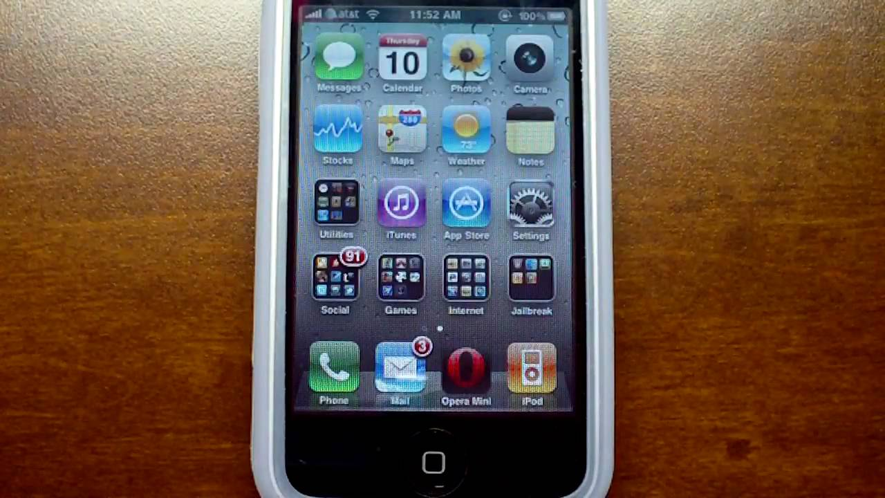 Ios 4 gm jailbroken iphone 3g w native multitasking for Wallpaper for iphone 3gs home screen