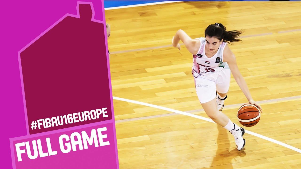 Hungary v Serbia - Full Game - CL 9-16 - FIBA U16 Women's European Championship 2016