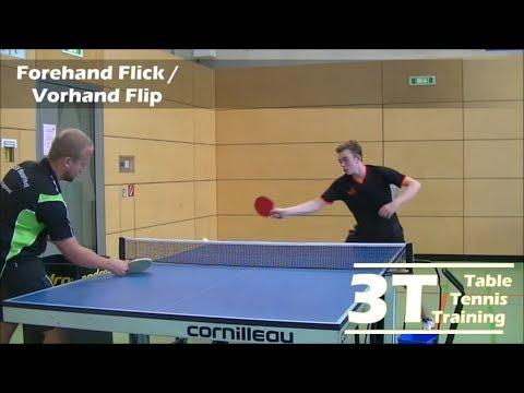 Serve receive part 1: forehand flick / Rückschlag Teil 1: Vorhand Flip
