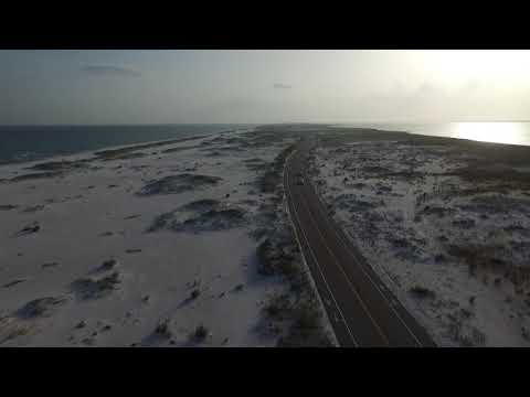 Navarre Beach Florida - Drone flying over