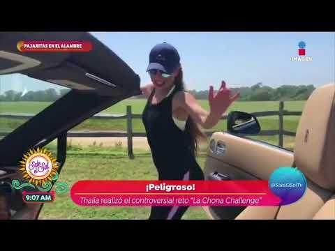 Thalía es criticada por realizar 'La Chona challenge' | Sale el Sol