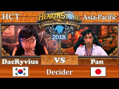 Hearthstone Asia-Pacific: DacRyvius vs Pan 09/08/2018