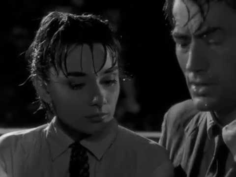 ROMAN HOLIDAY (1953) - Barge Fight & Kissing Scene - Movie Clips ...