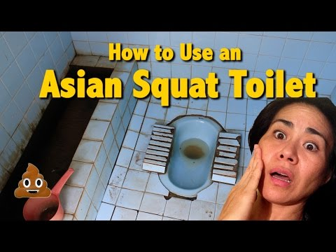 HOW TO USE THE ASIAN SQUAT TOILET