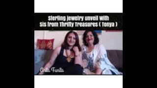 Me and My Sis opening Jewelry lot from Thrifty Treasures ( Tonya ) , sterling lot  won on MSP