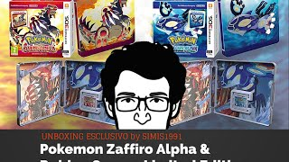 Pokemon Zaffiro Alpha & Rubino Omega Limited Edition - 3DS - Unboxing