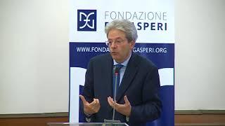 Il Presidente Gentiloni interviene al convegno della Fondazione De Gasperi