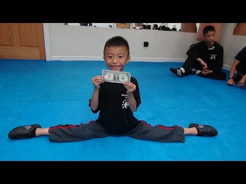 Kung Fu Kids - Jumping Middle Split Challenge