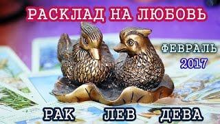 Расклад ТАРО на любовь февраль 2017 года для Раков , Львов , Дев .