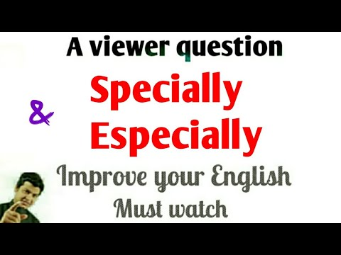 Download Specially or Especially | Especially vs Specially | improve your spoken English | English by Alam