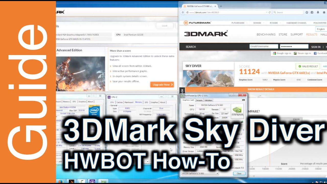 How to submit with 3DMark Sky Diver at HWBOT