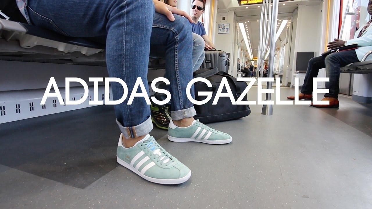 adidas gazelle og wearing