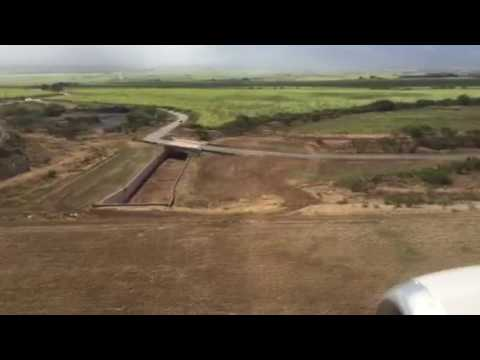 Landing in Kahului Hawaii