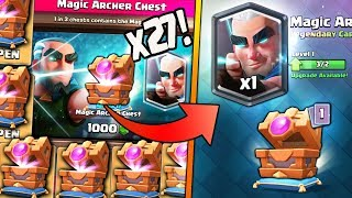 WOW! OPENING x27 NEW MAGIC ARCHER CHEST OFFERS!   Clash Royale   MAGIC ARCHER MAX GAMEPLAY!
