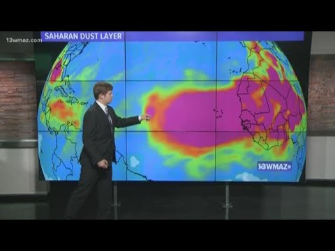 Saharan dust could bring fewer tropical storms, beautiful sunsets
