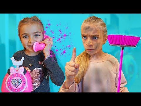 Las Ratitas limpian su casa y comparten sus juguetes pretend play clean toys for kids