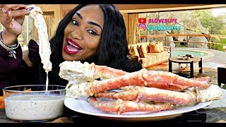 King Crab legs with Alfredo Sauce