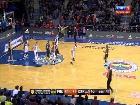 Hickman amazing block to Aaron Jackson | Fenerbahçe Ülker Cska Moskova EL Top 16 1st Game