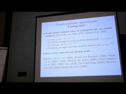 NIPS Randomized Algorithms - Francis Bach: Minimizing finite sums with stochastic average gradient