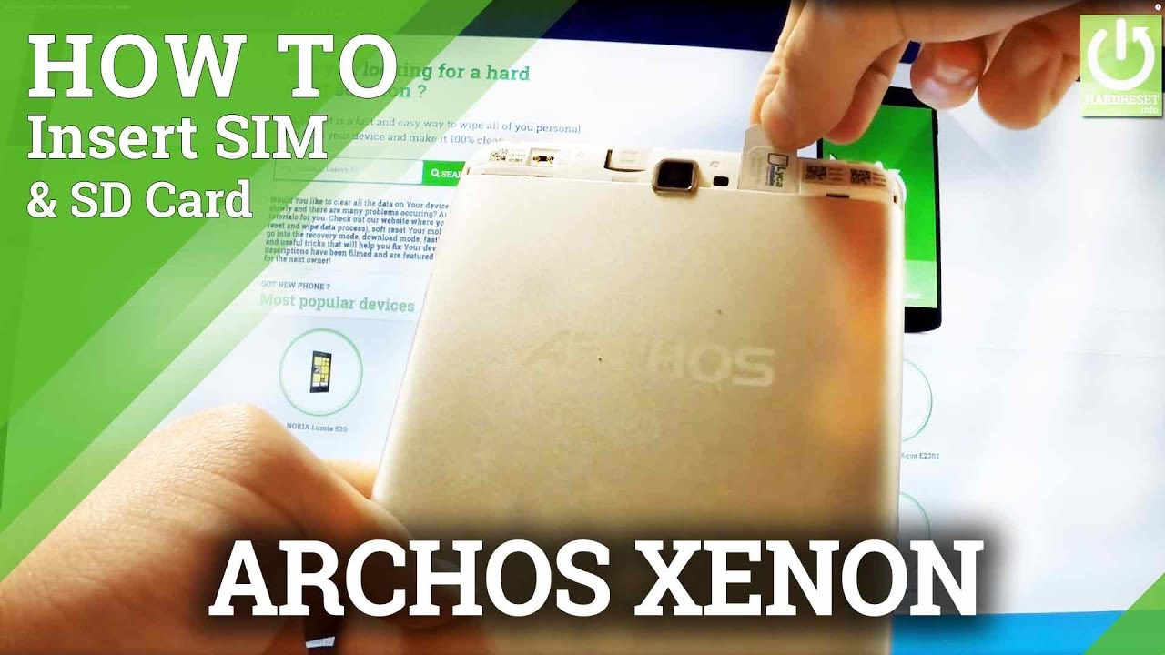 tablette carte sim 4g How to Insert SIM & SD CARD in ARCHOS Xenon Tablet   YouTube