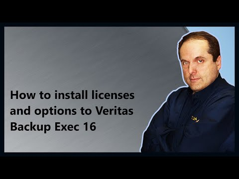 How to install licenses and options to Veritas Backup Exec 16 Mp3
