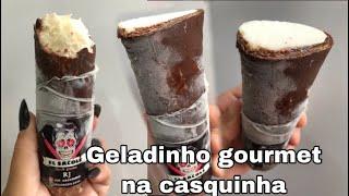 GELADINHO GOURMET NA CASQUINHA