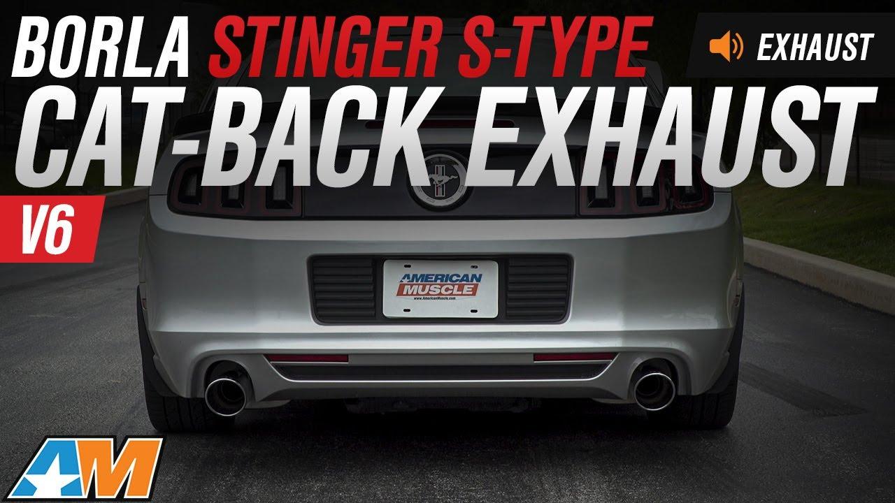 2011 2014 mustang v6 borla stinger s type cat back exhaust sound clip install