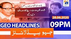 Geo Headlines 09 PM | 28th June 2020