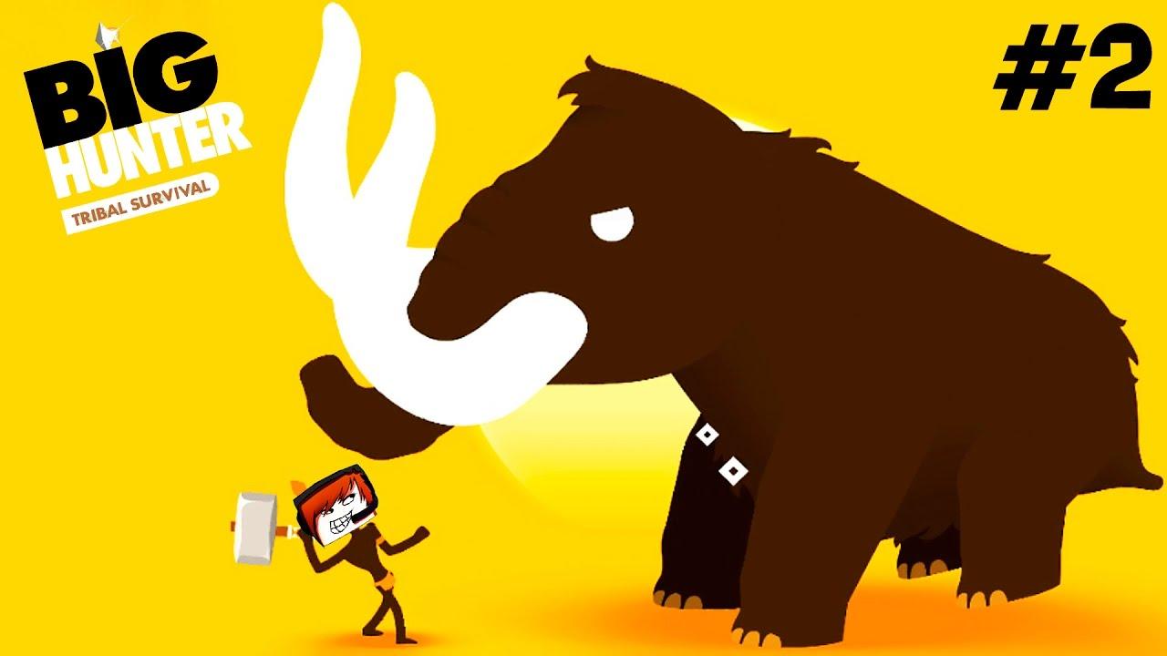 BIG HUNTER survival БОЛЬШОЙ ОХОТНИК #2 выживание племени Животные игровой мультик для детей Animals