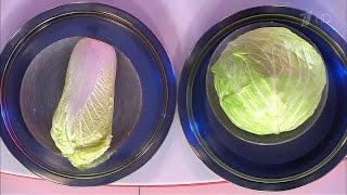 Жить здорово! Что здоровее? Китайская капуста против белокочанной. (05.09.2016)