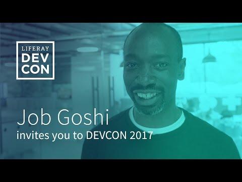 Liferay DEVCON 2017 - Invitation Job Goshi, General Manager Africa, Liferay