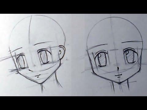видео: Как нарисовать аниме голову