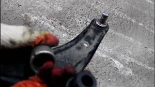 Citroen C Crosser 2,4 Ситроен Си Кроссер 2007 Замена передней шаровой опоры