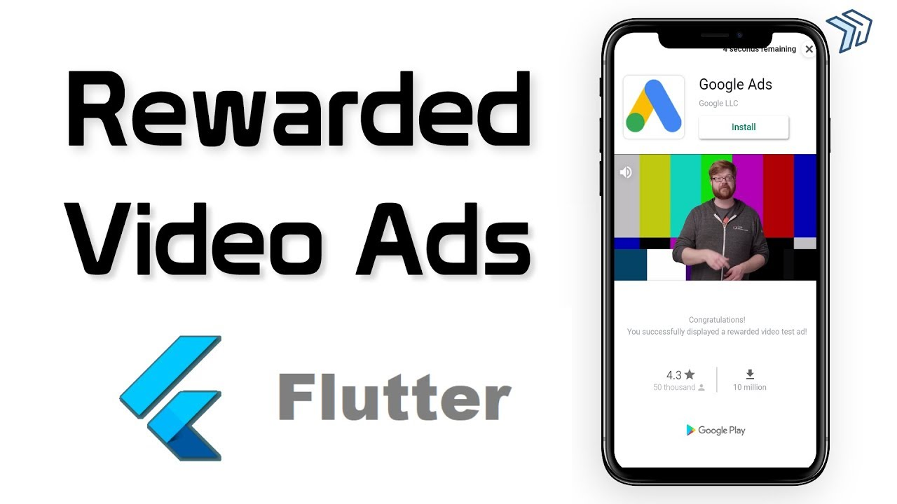 How to implement Rewarded Video Ads in Flutter | Flutter Admob Tutorial