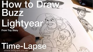 Gambar cover Drawing Buzz Lightyear from Toy Story Time lapse