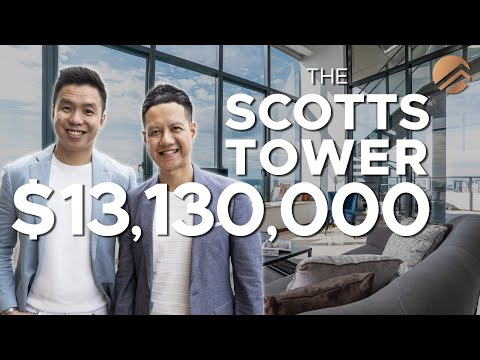 Inside a $13M Luxury Duplex Penthouse at The Scotts Tower  — Unbeatable Panoramic Views of Singapore