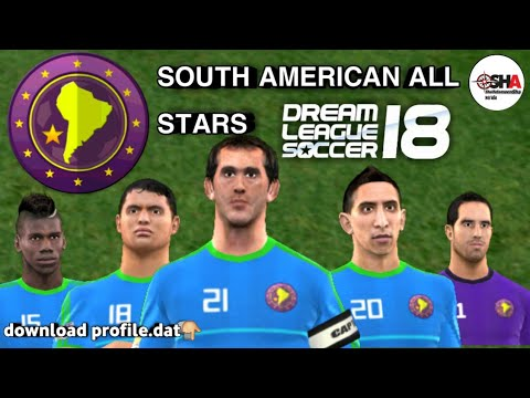 South American all stars official full team in Dream League Soccer 2018  download now⚽