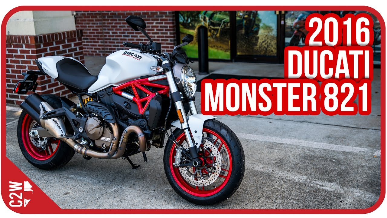 2016 ducati monster 821 | first ride - youtube
