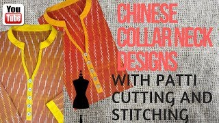 how to make kurti collar round neck design cutting and stitching for beginners