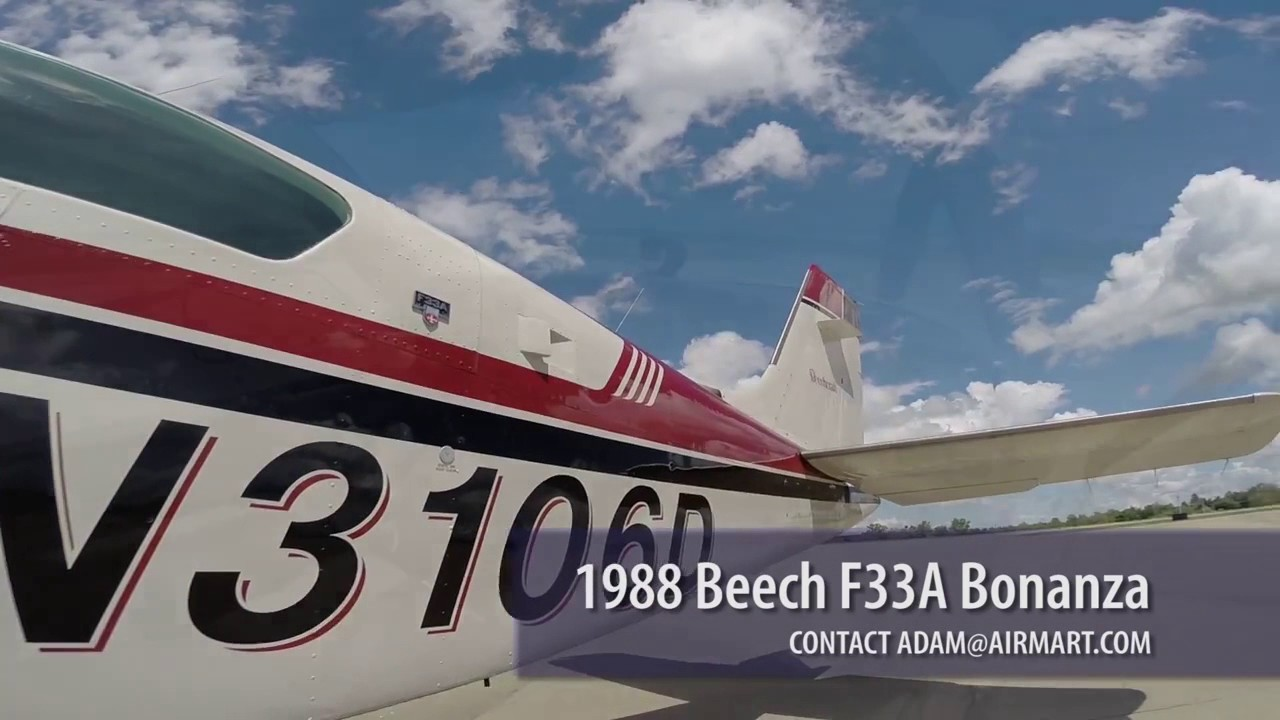 N3106D  1988 Beech F33A Bonanza Aircraft For Sale at Trade-A-Plane com