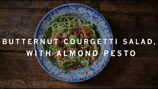Butternut Squash Courgetti Salad With Dairy Free Almond Pesto | Madeleine Shaw
