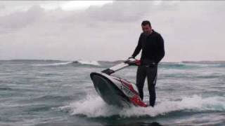 Russian oligarch Mikhail Prokhorov does Jet-Ski stunts